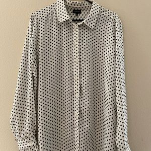 Who What Wear   black and white polka dot blouse